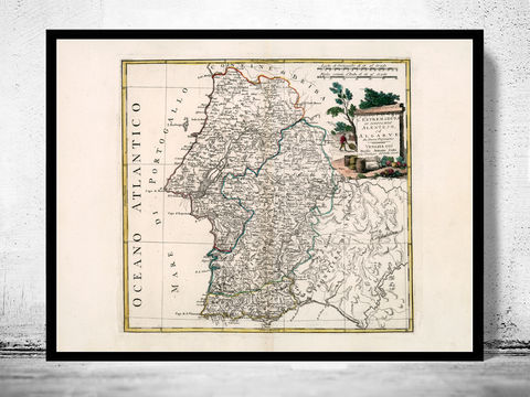 Old,Map,of,Alentejo,and,Algarve,Portugal,1775,map of alentejo, old map of alentejo, alentejo mapa antigo