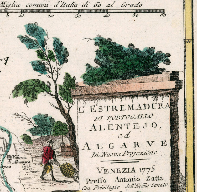 Old Map of Alentejo and Algarve Portugal 1775 - product images  of