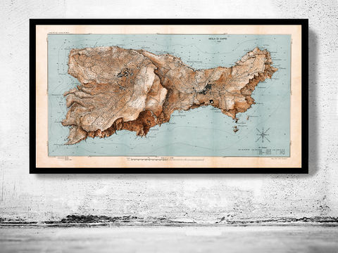 Old,Map,of,Capri,Italy,Art,Reproduction,Open_Edition,city_map,retro,antique,Europe,italy,italia,vintage_map,city_plan,old_map, old map of capri, capri map, capri poster,  capri, capri italy