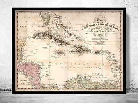 Old,Map,of,Bahamas,,Bahama,Islands,1831,bahamas, bahama islands, bahamas map, caribbean map, caribbe