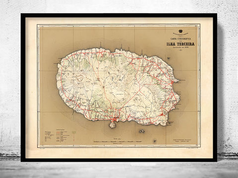 Old,Map,of,Ilha,Terceira,Açores,Azores,1899,Art,Reproduction,Open_Edition,Vintage_map,vintage_poster,old_map,map_poster,portugal,mapa_de_portugal,antique_map_map,portugal_poster,portuguese,retro,map_of_portugal,azores,acores_map