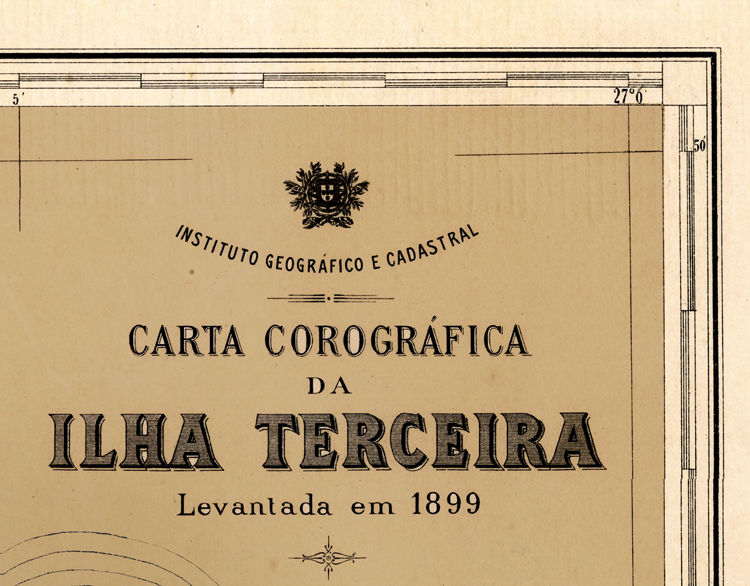 Old Map of Ilha Terceira Açores Azores 1899 - product images  of