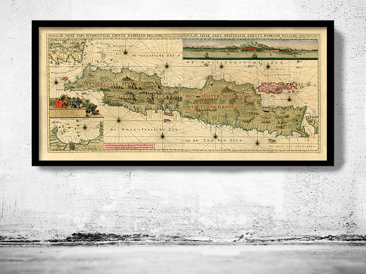Old Map of Java and Madura Islands Indonesia 1730 - product images  of