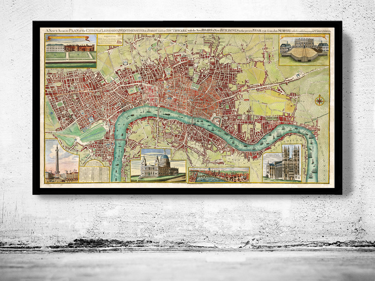 Old Map of London 1800 - product images  of