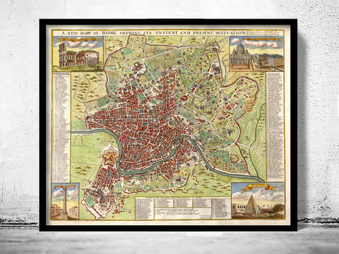 Old,Map,of,Rome,Roma,Italy,1722,Art,Reproduction,Open_Edition,rome,roma,italy,vintage_map,city_plan,old_map,map_of_rome,rome_map,rome_poster,rome_plan,roma_italia,antique_rome,roman