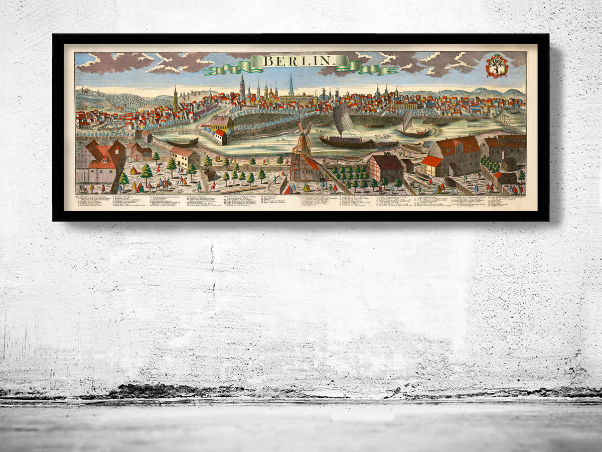 Old Panoramic View of Berlin 1761 - product images  of
