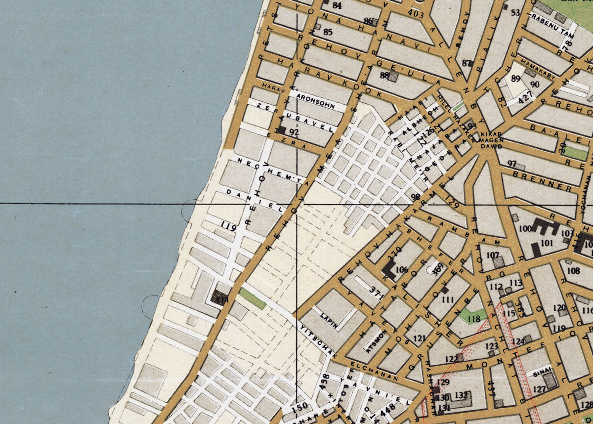 Old Map of Tel Aviv Israel - product images  of