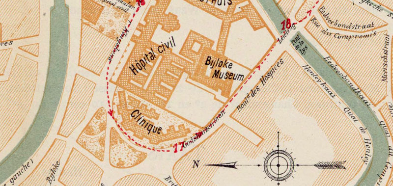 Old Map of Gent Ghent Gand Belgium 1923  - product image