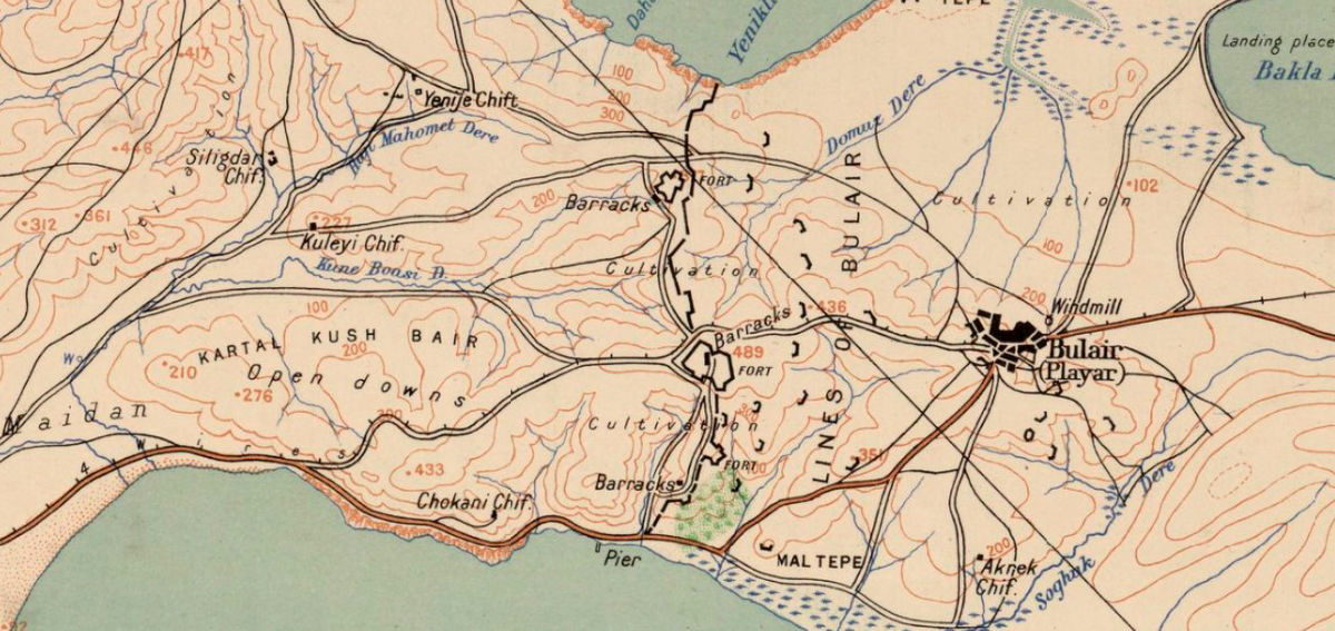 Old Map of Gallipoli Turkey 1919  - product images  of