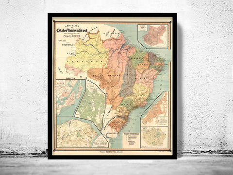 Old,Map,Brasil,1921,Mapa,do,mapa do brasil, mapa antigo do brasil, Art,Reproduction,Open_Edition,vintage,old_map,antique,atlas,illustration,South_America,Venezuela,brazil,brasil_map,map_of_brasil,brasil_poster
