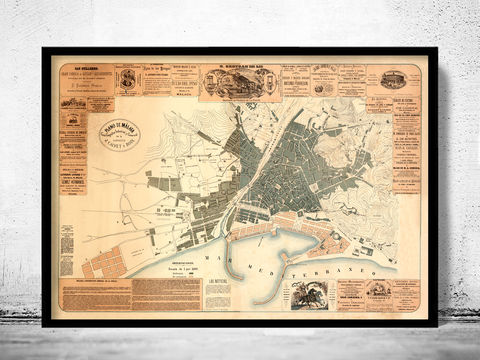 Old,Map,of,Malaga,Spain,1883,Vintage,map,malaga,malaga poster,  malaga map,Art,Reproduction,Open_Edition,vintage_map,city_plan,old_map,toledo_map,map_oftoledo,cataluna,spain,old_map_of_malaga,guia_de_malaga,malaga_poster,malaga_guia,malaga espana