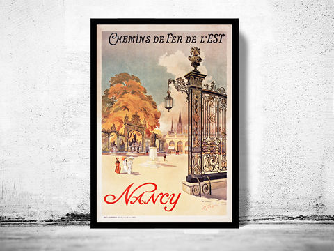 Vintage,Poster,Nancy,France,1907,nancy france, nancy, nancy tourisme, nancy poster, france, tourisme poster,  advertise poster, ,Art,Reproduction,Open_Edition,vintage_poster,retro_poster,travel_poster,touristic_poster