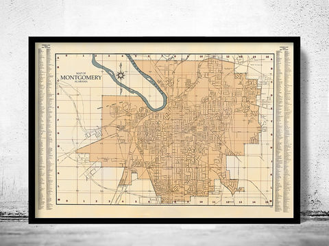 Old,map,of,Montgomery,Alabama,old montgomery map, old map of montgomery, montgomery alabama, montgomery poster, montgomery print