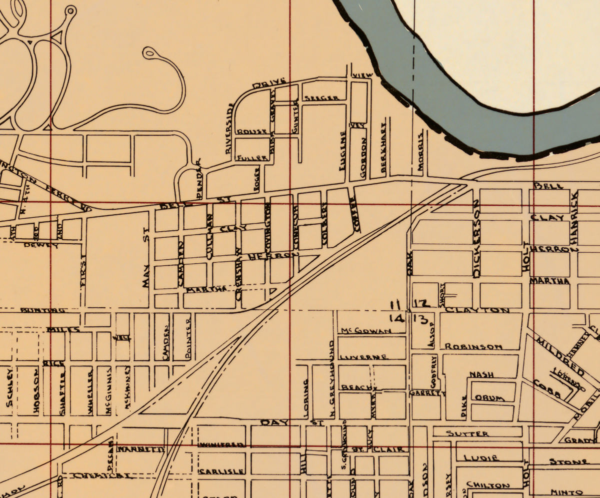 Old map of Montgomery Alabama - product images  of