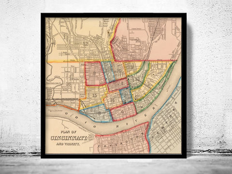 Old,Map,of,Cincinnati,suburbs,1860,Art,Reproduction,Open_Edition,United_States,city_map,retro,antique,old_map,vintage_map,boston_map,cincinnati,cincinnati_poster,map_of_cincinnati,cincinnati_vintage,covington,newport