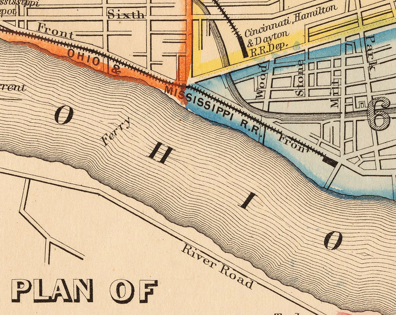 Old Map of Cincinnati suburbs 1860 - product image
