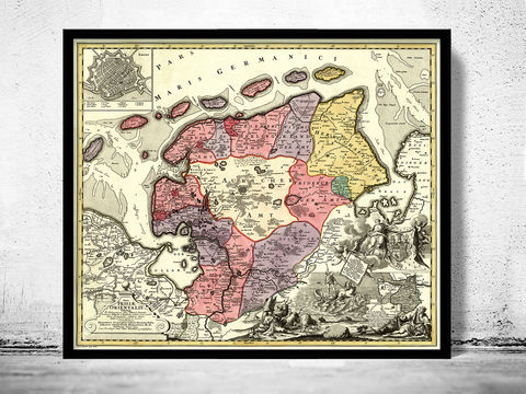 Old,Map,of,East,Frisia,1730,Ostfriesland,Germany,Ostfriesland map, East Frisia map, East Frisia old map, old map of East Frisia,Reproduction,Open_Edition,old_map,antique,atlas,1863,illustration,detailed,mapa,germany,deutshland,germany_map,germania_map,old_map_germany,deustshland_map