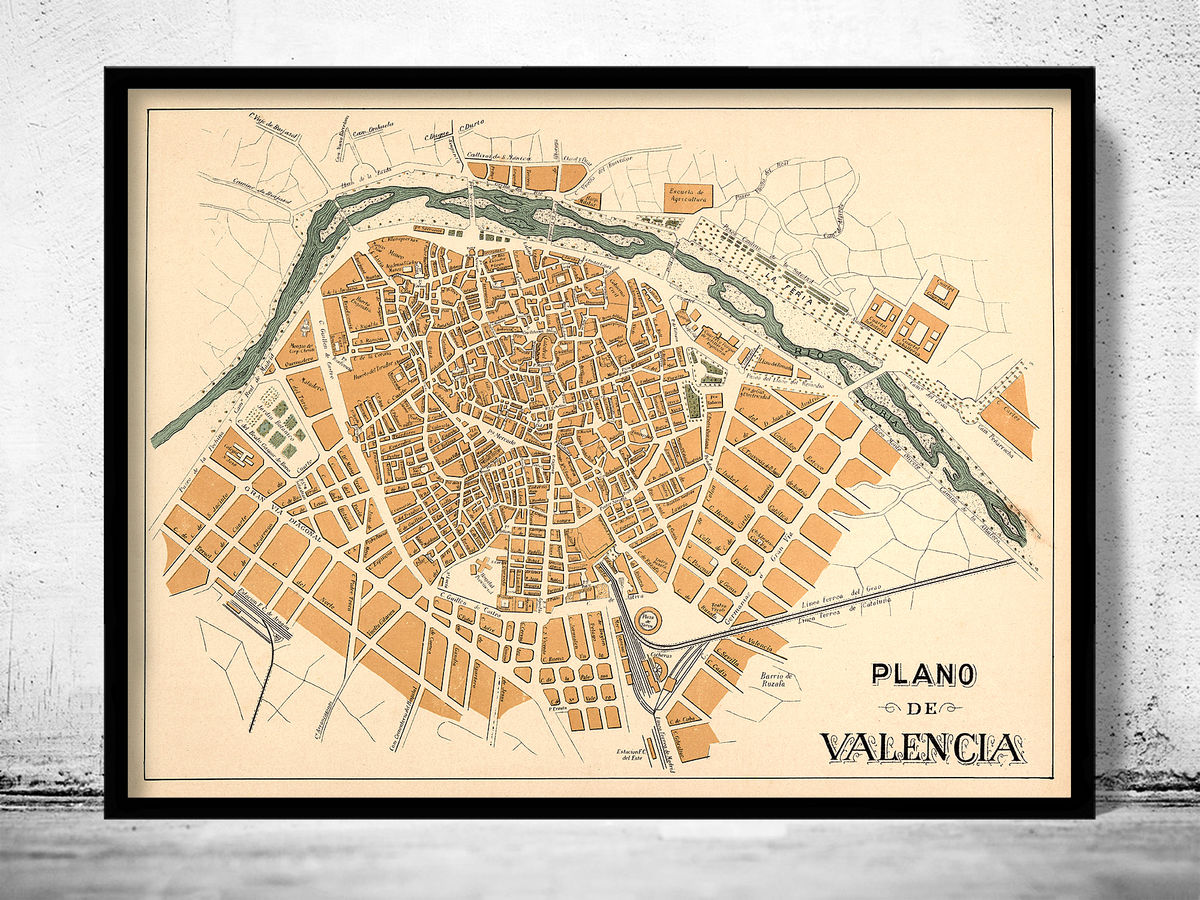 Old Map of Valencia 1905 Spain - product images  of