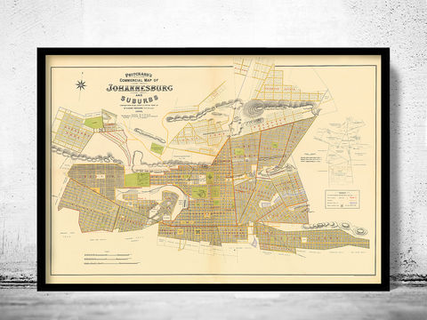 Old,Map,Johannesburg,South,Africa,1896,johannesburg South Africa, johannesburg, california, map, poster, johannesburg map, map of johannesburg, johannesburg poster
