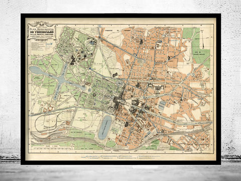 Old,Map,of,Versailles,France,1927,Art,Reproduction,Open_Edition,vintage,gravure,vintage_map,versailles, versailles map, versailles france, versailles poster, old map of versailles, old maps for sale, map reproductions
