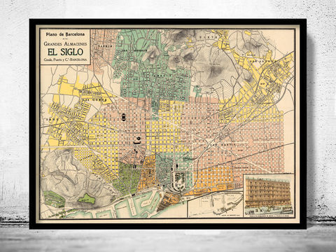 Old,Map,of,Barcelona,Catalonia,1910,Spain,Vintage,old map of barcelona, barcelona old map,Art,Reproduction,Open_Edition,vintage_map,city_plan,england,old_map,engraving,barcelona_map,map_of_barcelona,cataluna,spain,streets,old_map_of_barcelona,guia_de_Barcelona,barcelona_poster, barcelona map, map of barc
