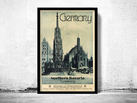 Vintage,Poster,of,Germany,Bavaria,,Travel,Tourism,1930-40,Art,Reproduction,Open_Edition,vintage_poster,retro_poster,travel_poster,touristic_poster,tourism_germany,germany_poster,germany_decor,germany_wall_decor,germany_vintage,deutshland_poster,germany_retro,german_poster,nuremberg