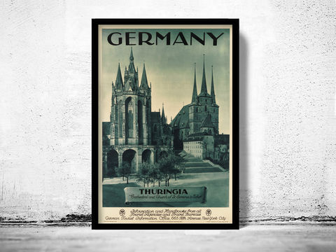 Vintage,Poster,of,Germany,Thuringia,,Travel,Tourism,1930-40,Art,Reproduction,Open_Edition,vintage_poster,retro_poster,travel_poster,touristic_poster,tourism_germany,germany_poster,germany_decor,germany_wall_decor,germany_vintage,deutshland_poster,germany_retro,german_poster,thuringia