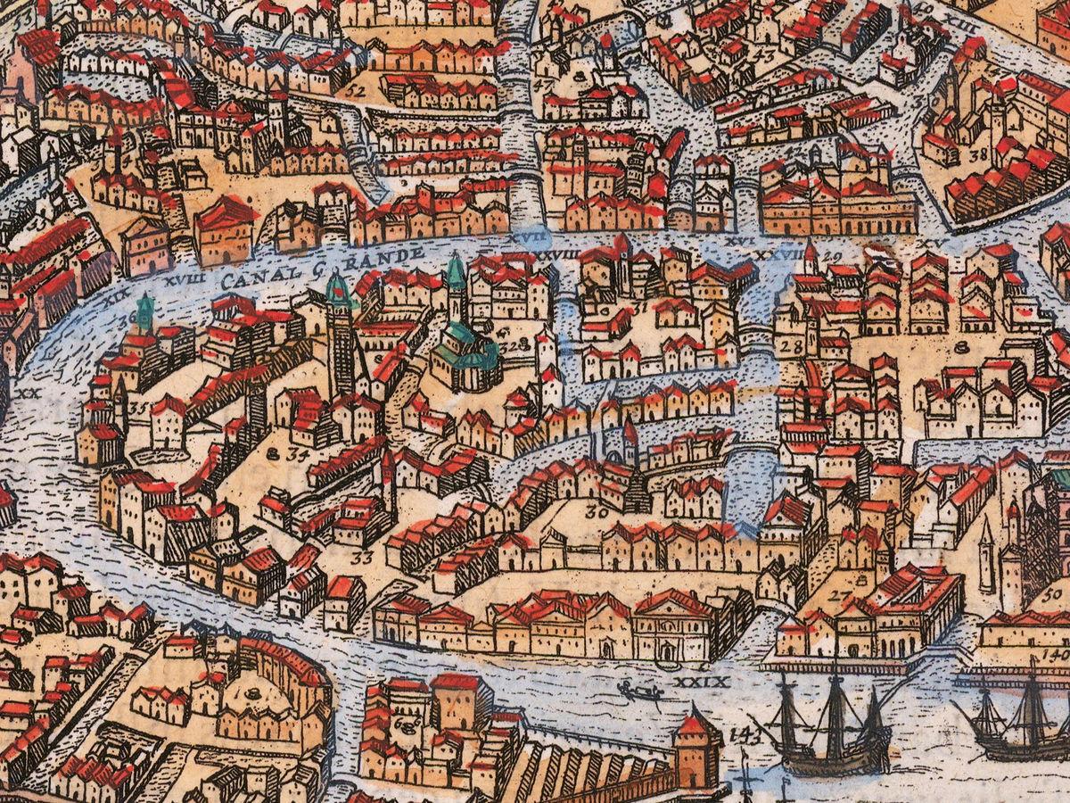 Old Map of Venice 1756 Venetia Venezia - VINTAGE MAPS AND ...