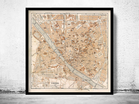 Old,Map,of,Florence,Firenze,,City,Plan,Italia,1900,Art,Reproduction,Open_Edition,vintage,plan,city_map,retro,antique,Europe,italy,italia,florence,firenze,old_map,vintage_map,vintage_poster, map of florence, florence map