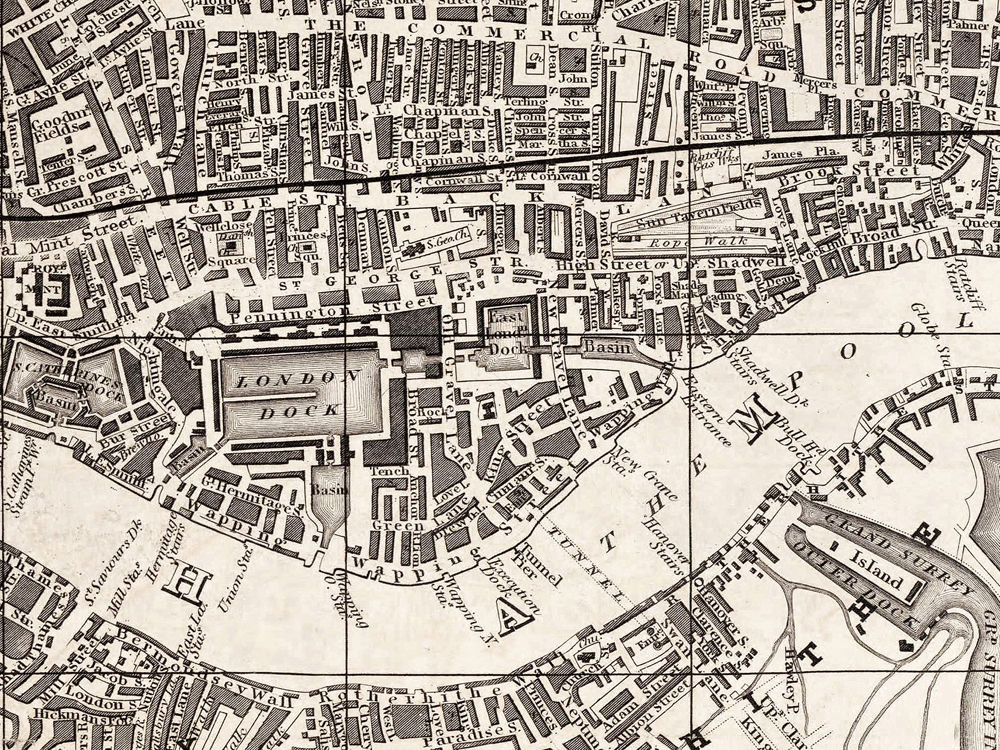 Old Map Of London England 1851 Vintage Map Of London Vintage Maps And Prints