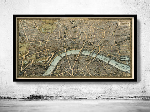 Old,Map,of,London,Birdseye,View,1892,Vintage,old maps for sale, old maps online, old maps of london, Art,Reproduction,Open_Edition,map_of_london,london_map,panoramic_view,london_view,panoramic_london,old_map_of_london,london_vintage,vintage_map_london,london_city_map,london_city,wall_decor_london,lo
