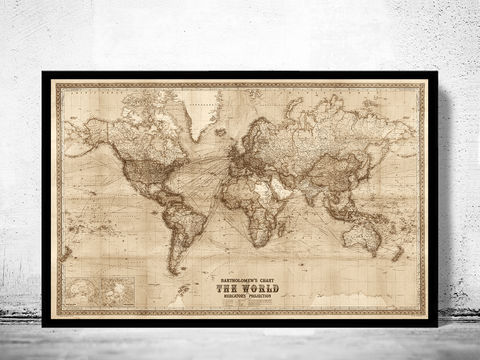 Old,World,Map,Vintage,1914,Mercator,projection,SEPIA,Art,Reproduction,Open_Edition,World_map,old_map,antique,atlas,discoveries,explorations,vintage_poster,city_plan,earth_atlas,map_of_the_world,world_map_poster,old_world,vintage_world_map