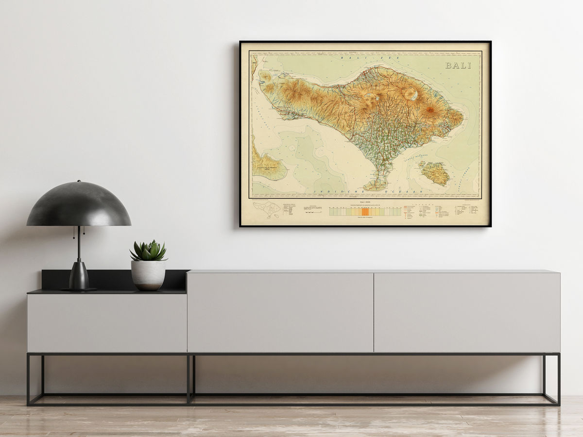Old Map of Bali Indonesia 1935 Vintage Map - product images  of