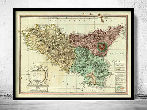 Old,Map,of,Sicily,Italy,1799,Vintage,Art,Reproduction,Open_Edition,city_map,retro,antique,Europe,italy,italia,vintage_map,city_plan,old_map,syracuse, siracusa, syracuse map, syracuse poster, syracuse sicily, sicilia
