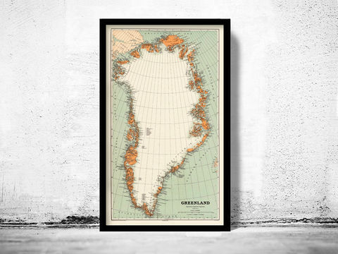 Old,Map,of,Greenland,Groenland,1929,Vintage,old map of greenland, vintage map of greenland, greenland map, old map of greenland, old maps online, vintage greenland map, Vintage greenland poster, greenland old map
