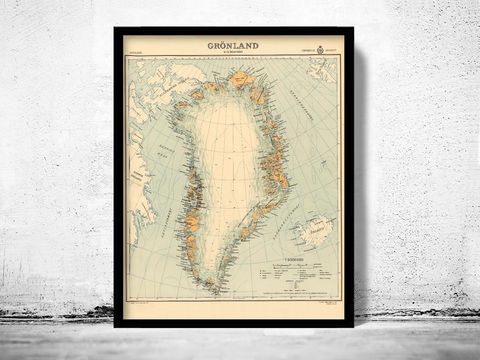 Old,Map,of,Greenland,Groenland,1937,Vintage,old map of greenland, vintage map of greenland, greenland map, old map of greenland, old maps online, vintage greenland map, Vintage greenland poster, greenland old map