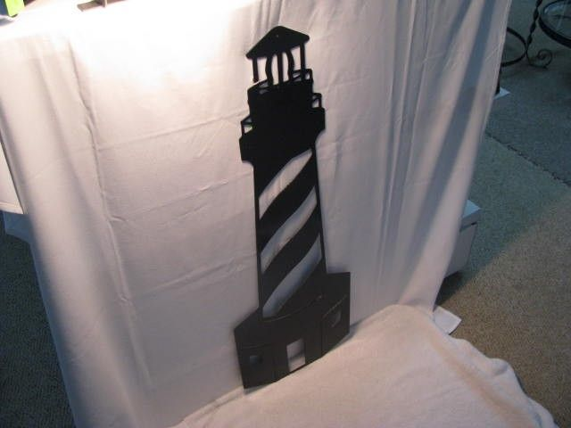 Lighthouse 2l Metal Wall Art Silhouette