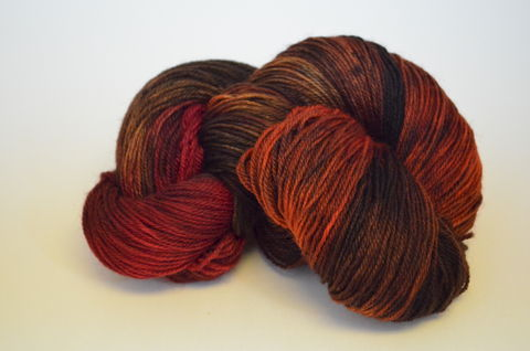 Deep,within,the,Lonely,Mountain,~,The,Hobbit,Inspired,Yarn, knit, knitting, hand dyed yarn, dyed yarn, Mill spun, Corriedale/Nylon, Super wash, hobbit, middle earth