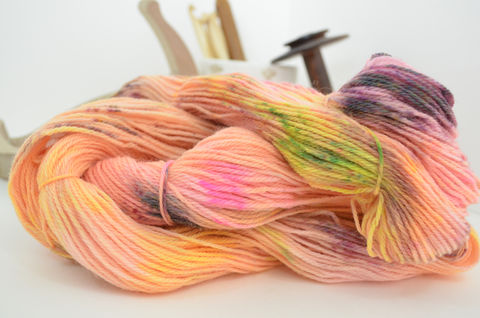 Neon,Kaleidoscope,~,Speckle,Collection,Yarn,yarn, hand dyed, speckle dyed, flourescent, wool