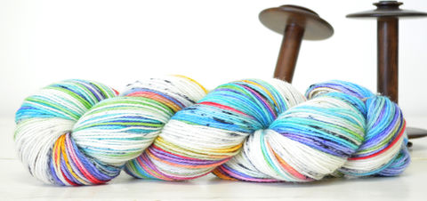 Rainbow,Dalmatian,Plantation,yarn, hand dyed, wool