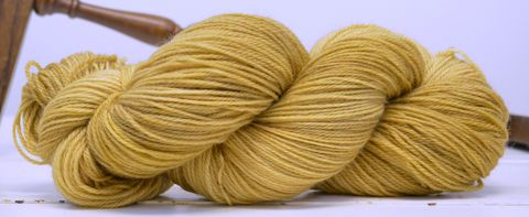 Honey,yarn, hand dyed, wool