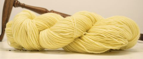 Butter,Cream,yarn, hand dyed, wool