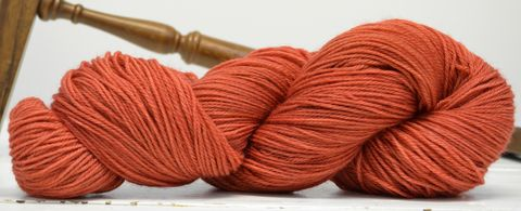 Terra-cotta,yarn, hand dyed, wool