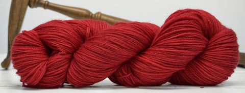 Scarlet,Fever,yarn, hand dyed, wool