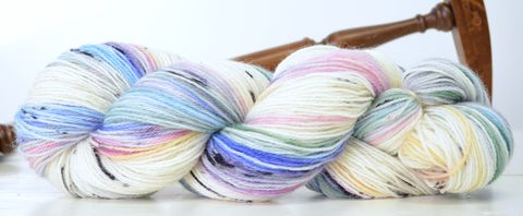 Winter,Rainbow,yarn, hand dyed, wool, rainbow yarn, winter rainbow