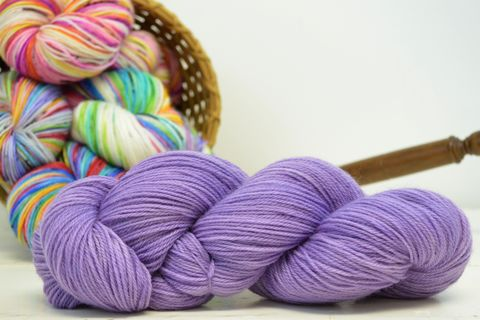 Grape,Soda,yarn, kettle dyed, indiedyed yarn, solid yarn, tonal yarn