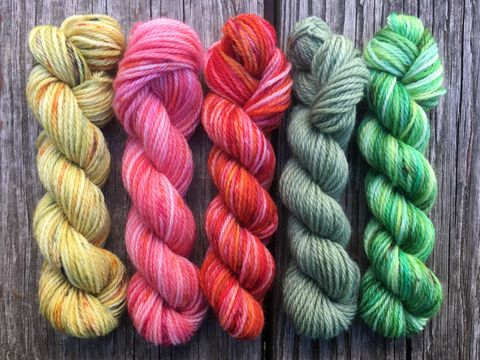 Hobbiton,Flowers,Mini,Coquette,Skein,Pack,mini skeins, minis, yarn minis, sample yarns , sample pack , sample skeins, Hobbiton flowers, middle earth, tolkien