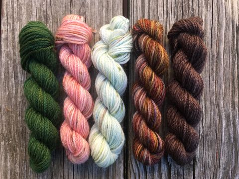 The,South,Farthing,Mini,Coquette,Skein,Pack,mini skeins, minis, yarn minis, sample yarns , sample pack , sample skeins, The old winyards, tolkien, middle earth