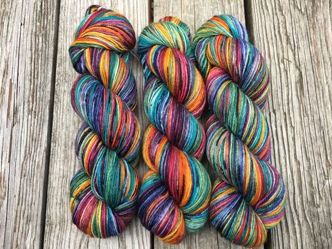 Autumn,Rainbow,yarn, hand dyed, wool, autumn yarn, fall yarn