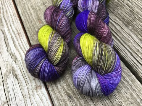 Hobgoblin,yarn, hand dyed, wool, autumn yarn, fall yarn